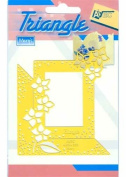 Ecstasy Crafts Triangle Stencil -Flowers With Rectangle