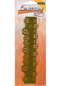 Ecstasy Crafts Embossing Border Stencil-Small Daisies