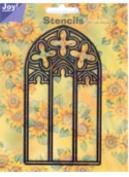 Ecstasy Crafts Joy Stencil - Flower Arch