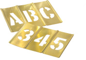 Made in USA 1.9cm 45 Piece Brass Stencil Kit