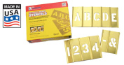 Brass Stencil Letter & Number Sets - 15cm 45 Piece Letter & Numbers