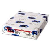 Wholesale CASE of 10 - NCR Paper 2-Part Superior Carbonless Sheets-NCR Paper, Carbonless, 92GE, 2-Part, 20cm - 1.3cm x 28cm , 500SH/PK