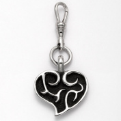 Stainless Steel Flaming Heart Zipper Pull