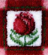 Caron Wonderart Latch Hook Kit 30cm X12 Inch - Little Rose