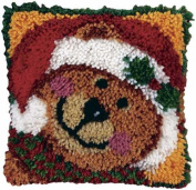 Latch Hook Kit (30cm X 30cm ) - Jingle Bear
