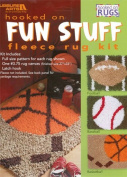 DiY Sports Rug Set Kit - Latch Hook Patterns and Canvas