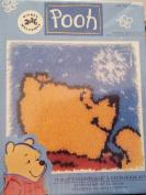 Disney 2000 Welcomes Pooh - Pooh's Snowflake Latch Hook Kit #Wp0013