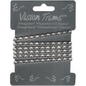 Vision Trims Geinuine Rhinstone Trim 90cm -Silver