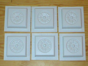 Set of six 4x4 Rosette Design Tile Trim Moulds #0932-6