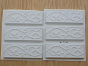 Set of six 2.75x8 Vine and Leaf Runner, Wall Tile Trim Moulds #0160-6