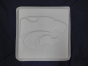 Wild Cat Wildcat Concrete Plaster Stepping Stone Mould 1186