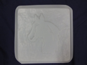 Square Horse Head Stepping Stone Concrete Plaster Mould 1289