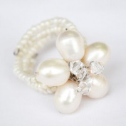 Pearl Gem Stone Ring Free Size 100% Handmade by Flower GemStone
