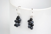 Grape Onyx Silver Earring Gem Stone Handmade by Flower GemStone