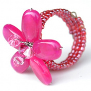Ruby Coloured Flower Gemstone Ring by Flower GemStone