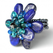 Lapis Lazuli Flower Gemstone Ring by Flower GemStone