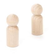Darice 9121-18 Natural Unfinished Wood Craft Man Peg, 5.9cm