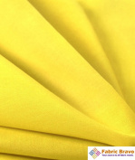 Yellow 150cm Wide Premium Cotton Blend Broadcloth Fabric By the Yard