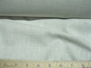 Discount Fabric Linen Egg shell White and grey Micro Hounds Tooth Plaid LI101