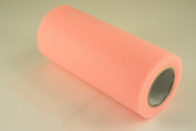 15cm Peach Craft Tulle Roll 25 Yards