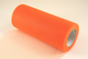 15cm Orange Craft Tulle Roll 25 Yards