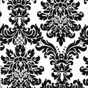 150cm Wide Flocked Damask Taffeta / $2.35 Fabric By The Yard