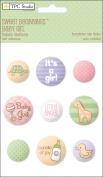 Sweet Beginnings Girl Self-Adhesive Fabric Buttons-