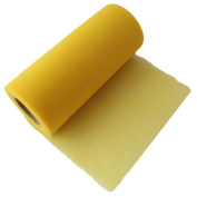 OurWarm Yellow 15cm x 25 Yards (75FT) Roll Tulle Spool