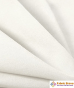 White 150cm Wide Premium Cotton Blend Broadcloth Fabric By the Yard