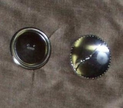 3 of Half Ball Aluminium Buttons to Cover with Fabric, 2.5cm - 0.3cm Diameter