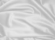 White Dull Bridal Satin Fabric 150cm By the Yard