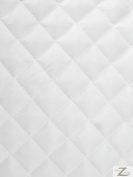 QUILTED POLYESTER BATTING FABRIC - White - 150cm WIDTH SOLD BTY - 1.3cm THICK