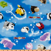 110cm Wide Pillow Pets Night Sky Multi/Blue Fabric By The Yard