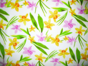 Islands Fabric Hawaiian Floral Breeze Fleece Fabric and Sold By the Yard