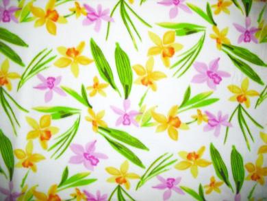Islands Fabric Hawaiian Floral Breeze Fleece Fabric and Sold By the Yard