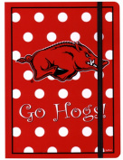NCAA Arkansas Razorbacks Polka Dot DesignstationeryJournal