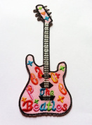 Electric Guitar Colourful (the beatles logo) Iron on Patch