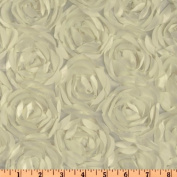 Loveable Satin Ribbon Rosette Ivory Fabric