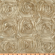 Splenda Satin Ribbon Rosette Mocha Fabric
