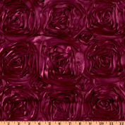 Splenda Satin Ribbon Rosette Fuchsia Fabric