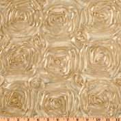 Splenda Satin Ribbon Rosette Beige Fabric