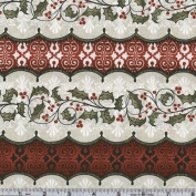 110cm Wide Wintergraphix II Holly Stripe Red Fabric By The Yard