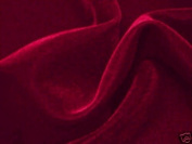 Burgundy Velvet Fabric 110cm By the Yard
