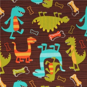 Michael Miller fabric Dino Dudes cute dinosaur