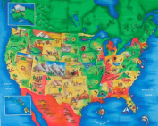 Multi Panel Map United States Multi Fabric