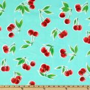 Oil Cloth Stella Cherries Aqua Fabric