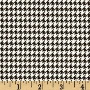 Comfy Flannel Houndstooth Black Fabric