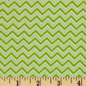 Alpine Flannel Basics Chevron Green Fabric