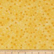 Flannel Stars Yellow Fabric