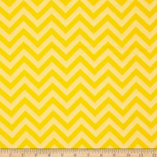 Flannel Chevron Yellow Fabric